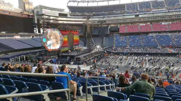 Gillette Stadium, section: 111, row: 35, seat: 22