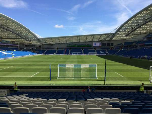 American Express Community Stadium, section: N1F, row: T, seat: 368