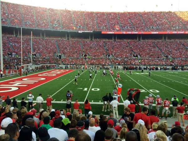 Ohio Stadium, section: 15A, row: 11, seat: 3
