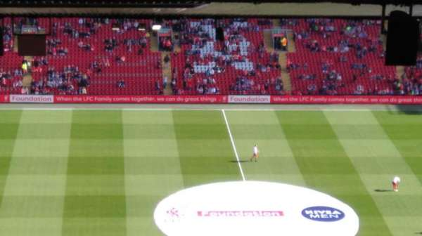 Anfield, section: U4, row: 93, seat: 109
