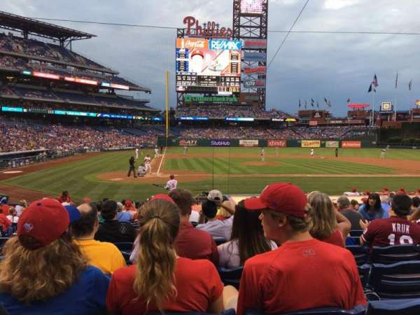 Citizens Bank Park, section: G, row: 16, seat: 6