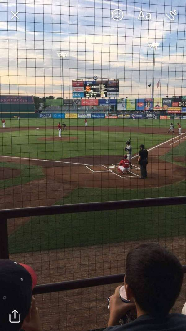 McCoy Stadium, section: 7, row: B, seat: 12