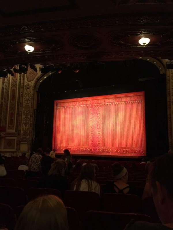 Cadillac Palace Theater, section: Orchestra R, row: V, seat: 18