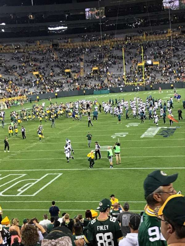 Lambeau Field, section: 135, row: 27, seat: 10
