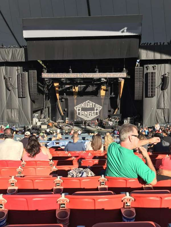 Shoreline Amphitheatre, section: 202, row: P, seat: 17