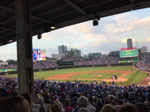 Wrigley Field, section: 215, row: 10, seat: 8