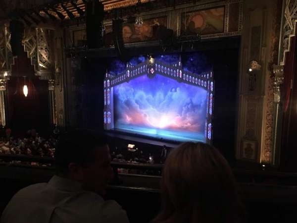 Hollywood Pantages Theatre, section: MEZZR, row: B, seat: 12