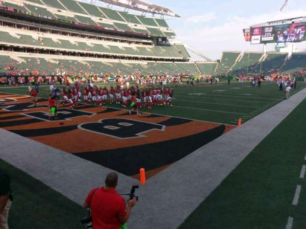 Paul Brown Stadium, section: 118, row: 1, seat: 18