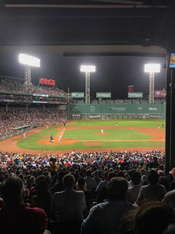Fenway Park, section: Grandstand 17, row: 11, seat: 9