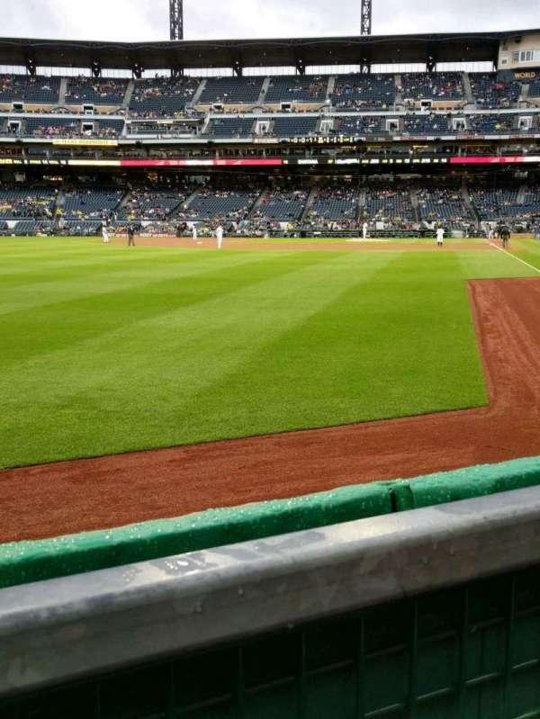 PNC Park, section: 133, row: A, seat: 8