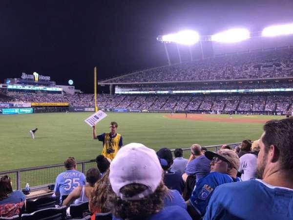 Kauffman Stadium, section: 108, row: P, seat: 15