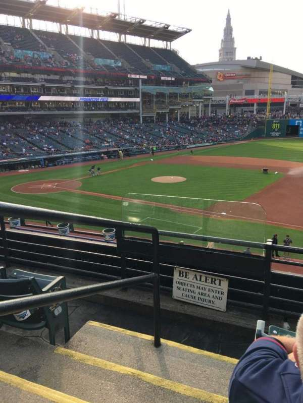 Progressive Field, section: 338, row: C, seat: 10