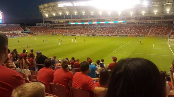 Rio Tinto Stadium, section: 34, row: Y, seat: 22