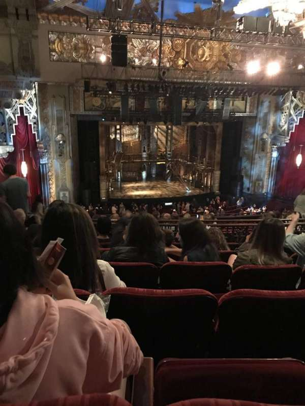 Hollywood Pantages Theatre, section: MEZZLC, row: P, seat: 313