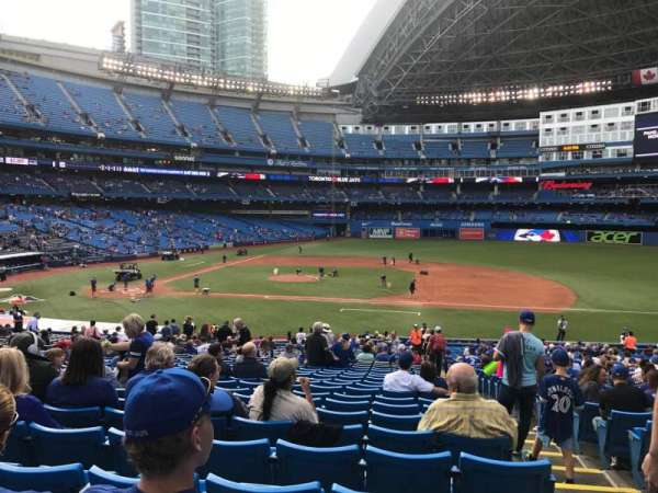 Rogers Centre, section: 116L, row: 19, seat: 10