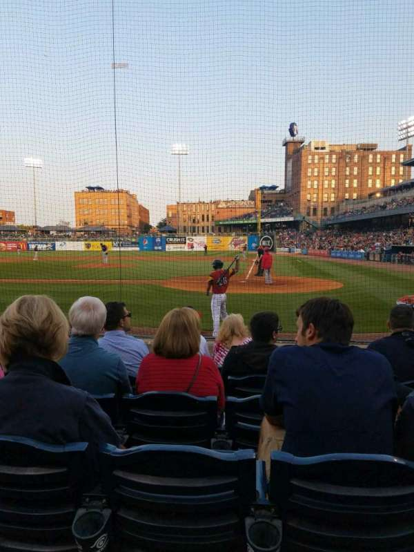 Fifth Third Field, section: 108, row: g, seat: 4