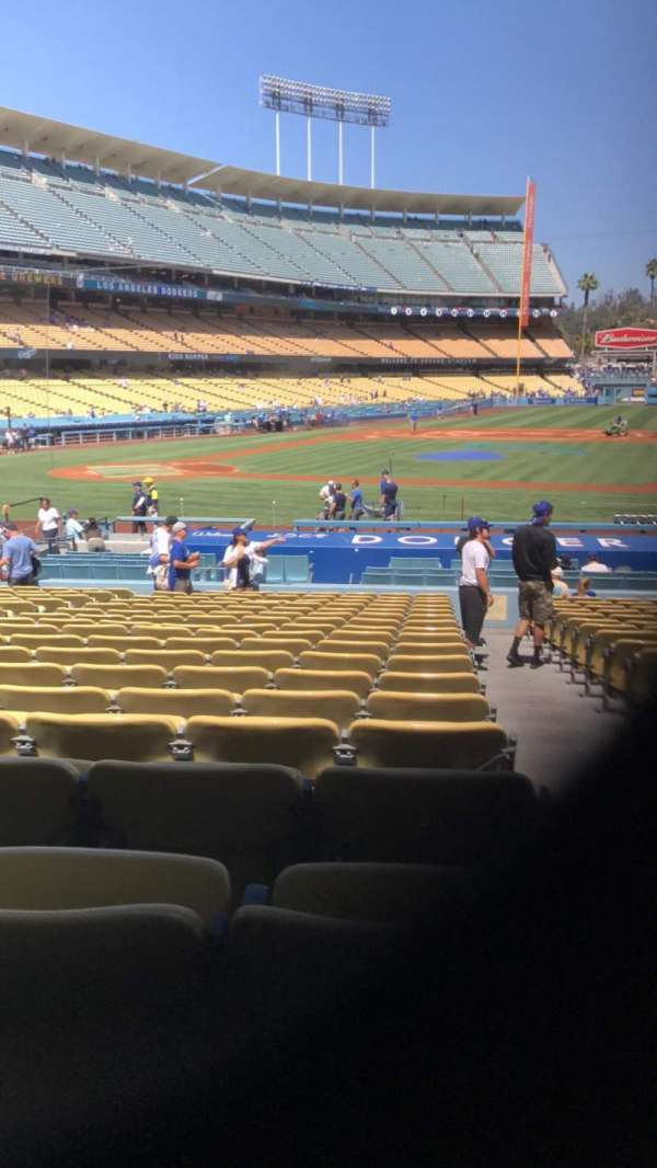 Dodger Stadium, section: 18FD, row: T, seat: 8