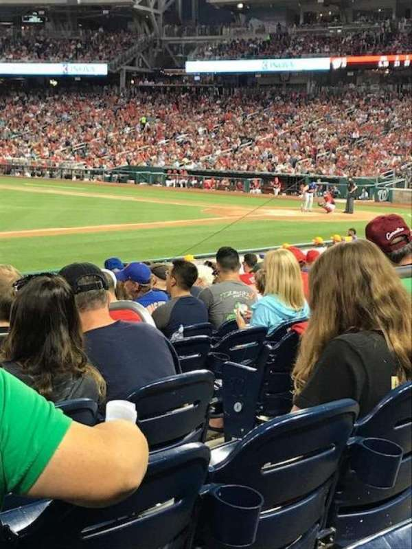 Nationals Park, section: 114, row: V, seat: 7
