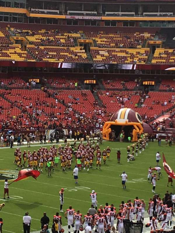 FedEx Field, section: 226, row: 8, seat: 7