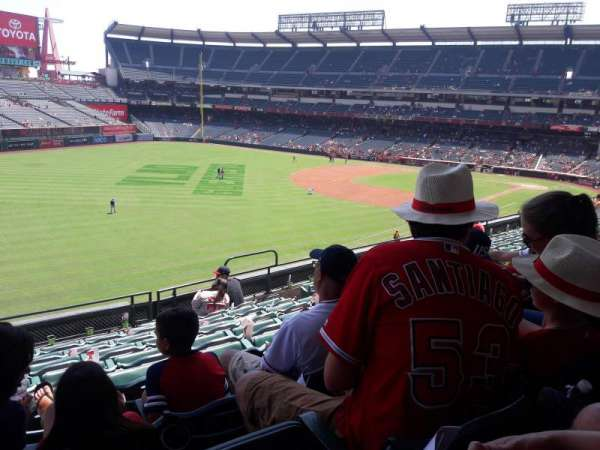 Angel Stadium, section: C306, row: H, seat: 10