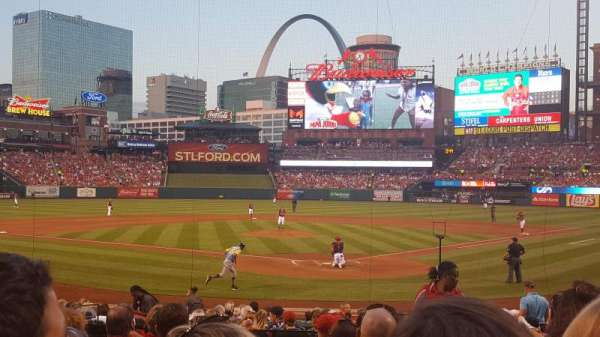 Busch Stadium, section: 151, row: 9, seat: 3 and 4