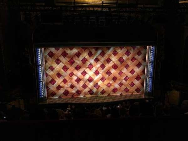 Brooks Atkinson Theatre, section: Rear Mezzanine LC, row: E, seat: 117