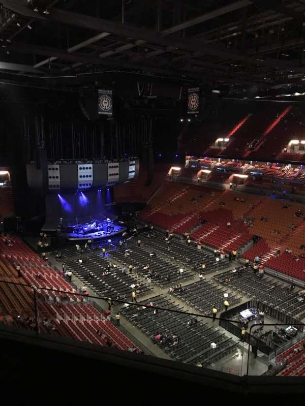 American Airlines Arena, section: 419, row: 2, seat: 7