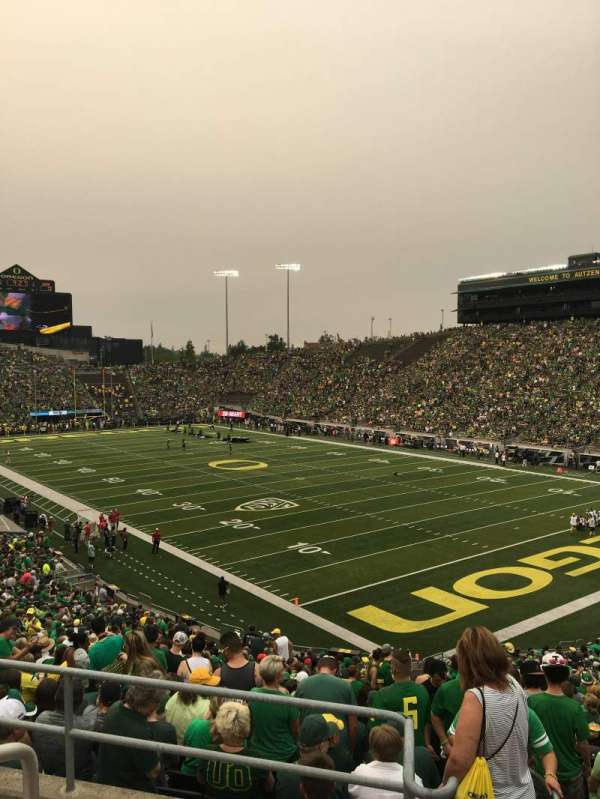 Autzen Stadium, section: 25, row: 41, seat: 2