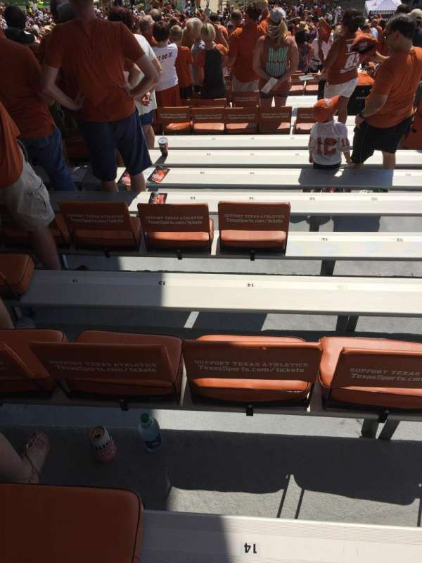 Texas Memorial Stadium, section: 1, row: 68, seat: 14