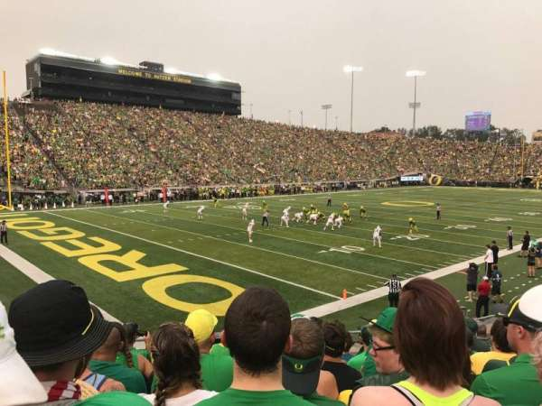 Autzen Stadium, section: 37, row: 18, seat: 11