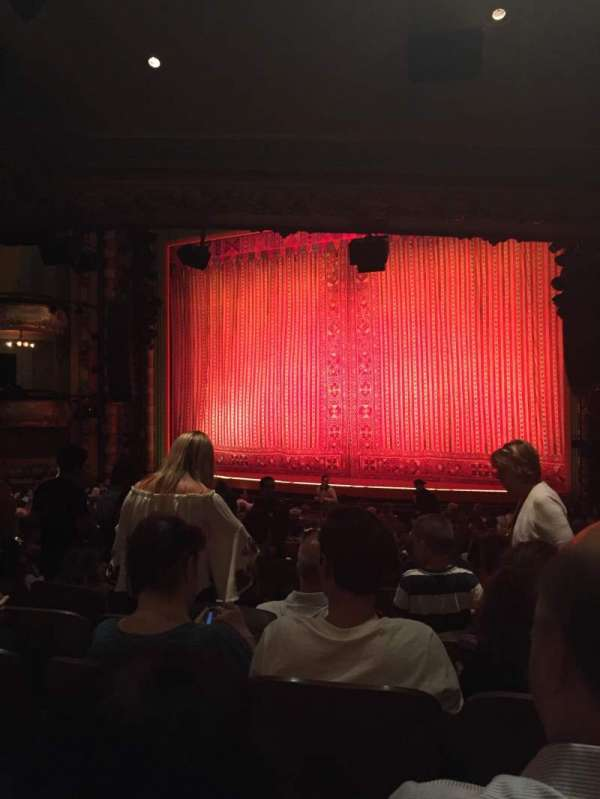 New Amsterdam Theatre, section: Orchestra R, row: U, seat: 14