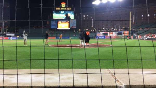Oriole Park at Camden Yards, section: 40, row: 1, seat: 6