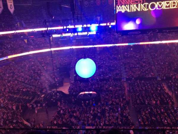 Amalie Arena, section: 302, row: D, seat: 4