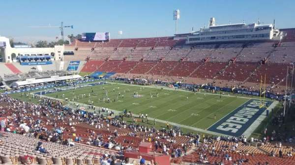 Los Angeles Memorial Coliseum, section: 318, row: 1, seat: 34