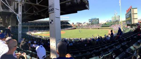 Wrigley Field, section: 240, row: 23, seat: 107