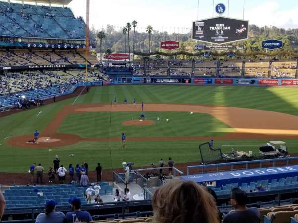 Dodger Stadium, section: 124LG, row: L, seat: 1