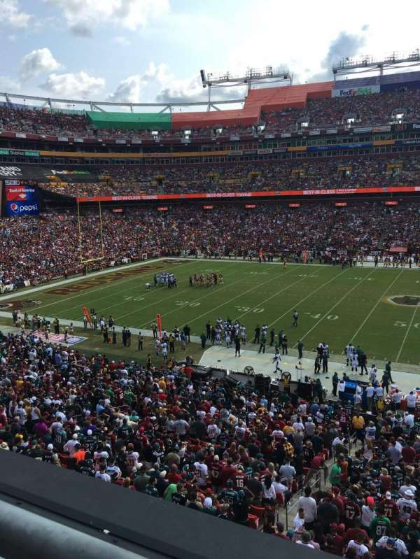 Fedex Field, section: 222, row: 1, seat: 11