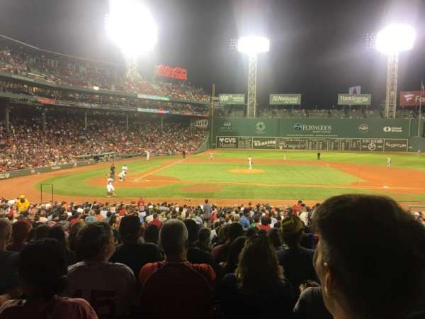 Fenway Park, section: Loge Box 119, row: NN, seat: 2
