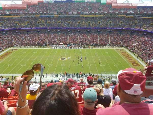 FedEx Field, section: 427, row: 10, seat: 9