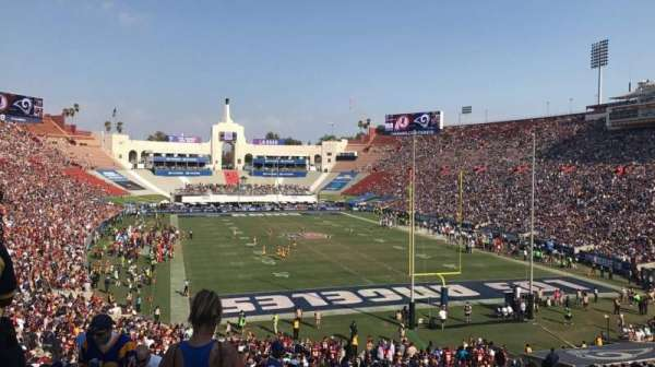 Los Angeles Memorial Coliseum, section: 215, row: 2, seat: 30