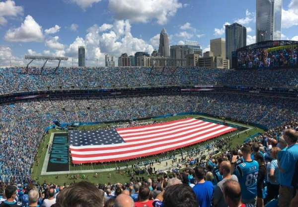 Bank of America Stadium, section: 545, row: 21, seat: 20