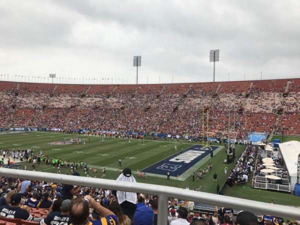 Los Angeles Memorial Coliseum, section: 203A, row: 1, seat: 7