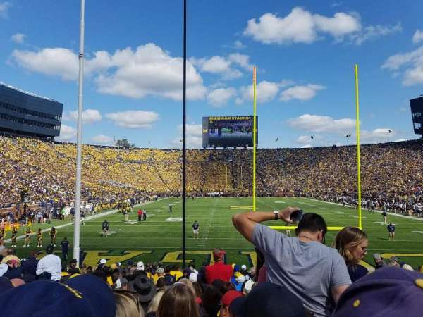 Michigan Stadium, section: 12, row: 18, seat: 4