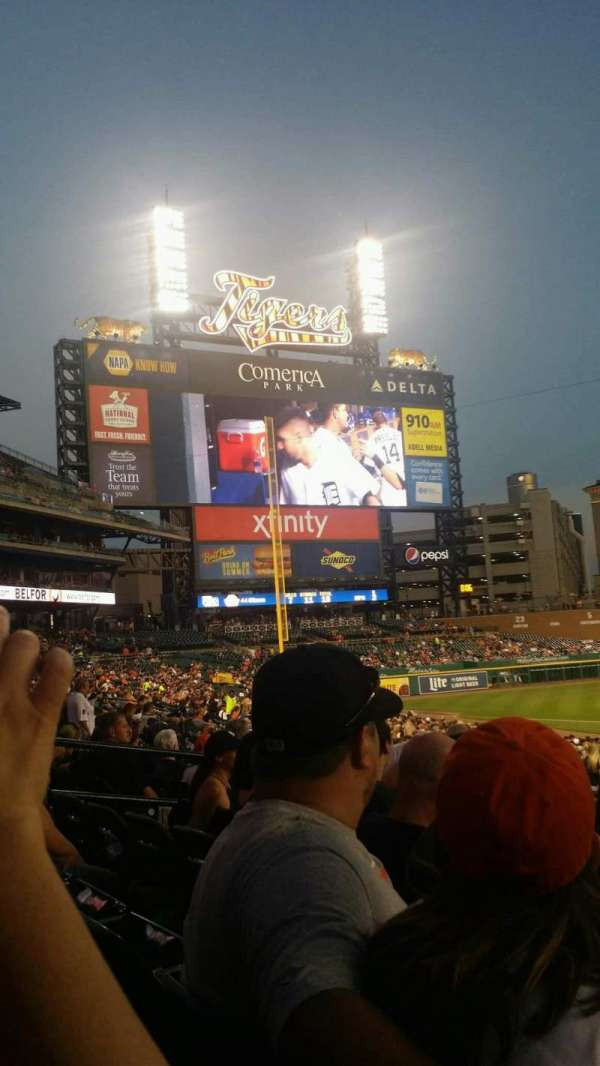 Comerica Park, section: 134, row: 32, seat: 7