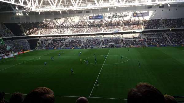 Tele2 Arena, section: B308, row: 4, seat: 313