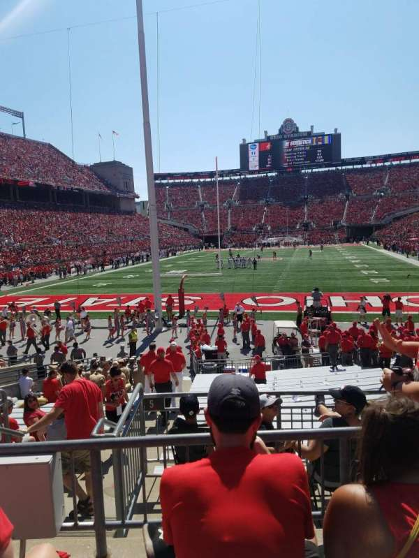 Ohio Stadium, section: 3a, row: 3, seat: 9