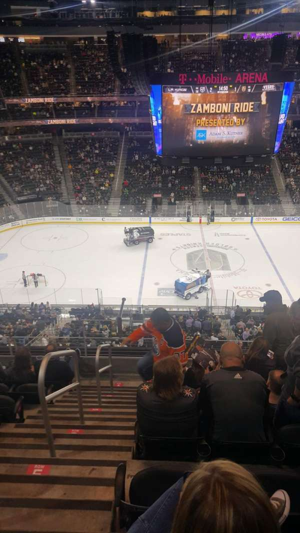T-Mobile Arena, section: 205, row: G, seat: 1