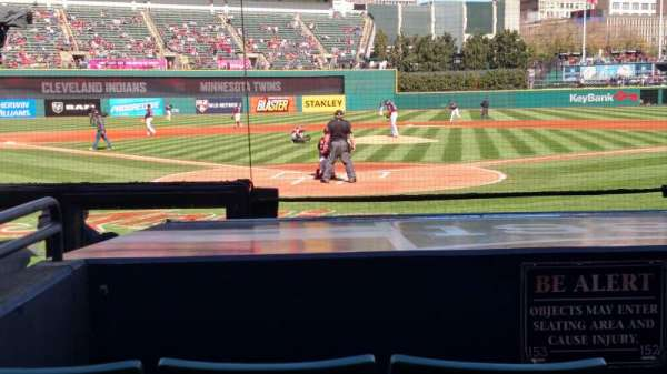 Progressive Field, section: 153, row: J, seat: 2
