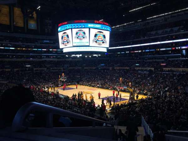 Staples Center, section: PR1, row: 6, seat: 3,4
