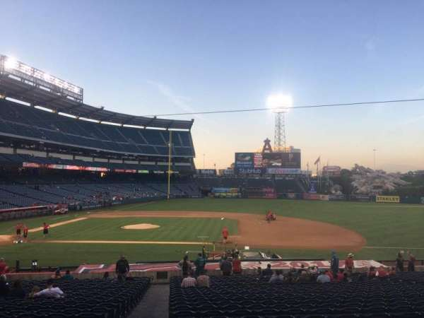 Angel Stadium, section: T223, row: A, seat: 19